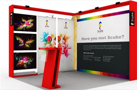 Beautiful red frame for exhibitions